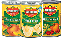 Cans of fruit
